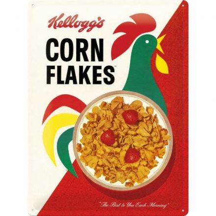 Kellogg's Cornflakes - 3D  Metal Wall Sign